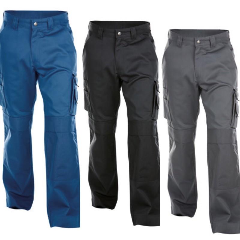 Dassy 200908-6541-56 Pantalon de travail magn/étique avec plusieurs poches et poche aux genoux 250 g//m/² Marron argile//gris anthracite Taille 56